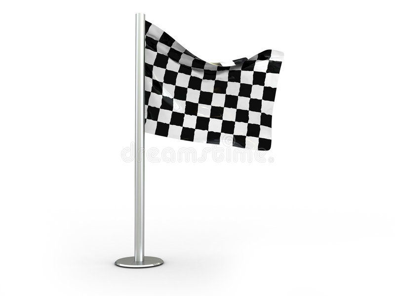Download Checkered flag stock illustration. Image of ceremony, first - 7483777