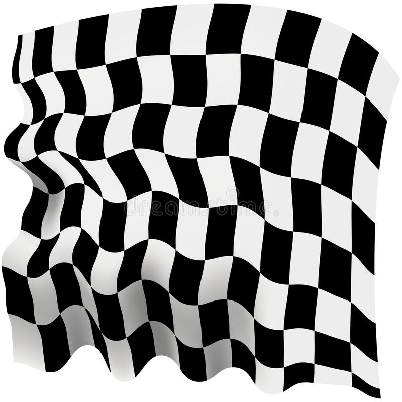 Download Checkered flag stock illustration. Illustration of single - 34624215