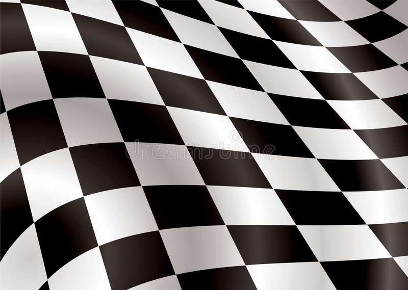 Download Checkered flag bellow stock vector. Image of champion - 5465135