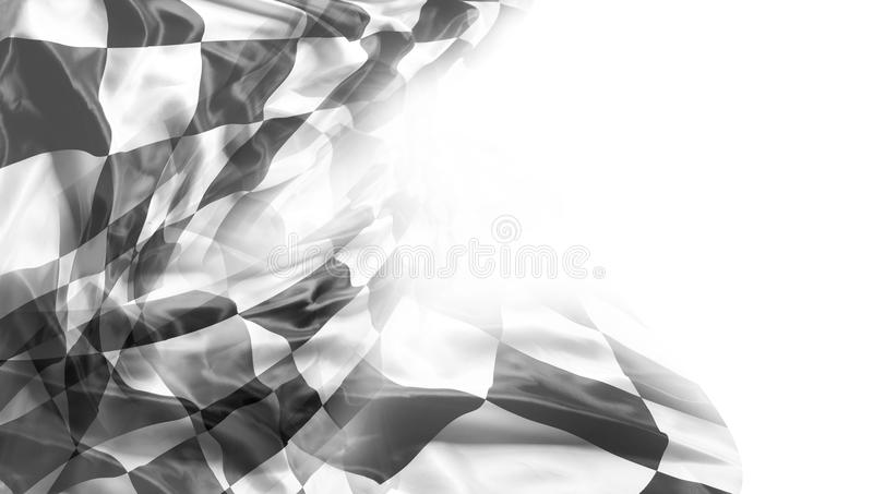 Checkered flag. Checkered black and white racing flag. Copy space royalty free stock photo
