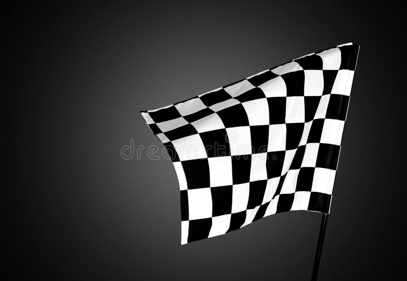 Checkered flag. Flag auto racing starting line sports race speed motorized sport royalty free stock photography