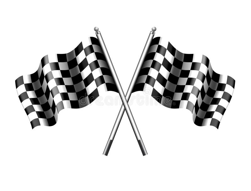 Checkered Flag, Chequered Flags Sport Motor Racing royalty free illustration