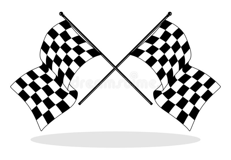 checkered flag stock illustration  illustration of circuit