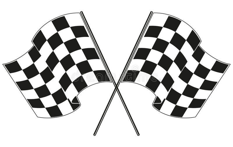 checkered flag racing stock vector illustration of finish 46290172 rh dreamstime com race flag border clip art racing flag clipart