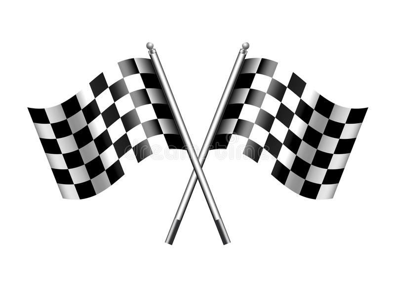Checkered Flag Sports Chequered Flags Motor Racing stock illustration