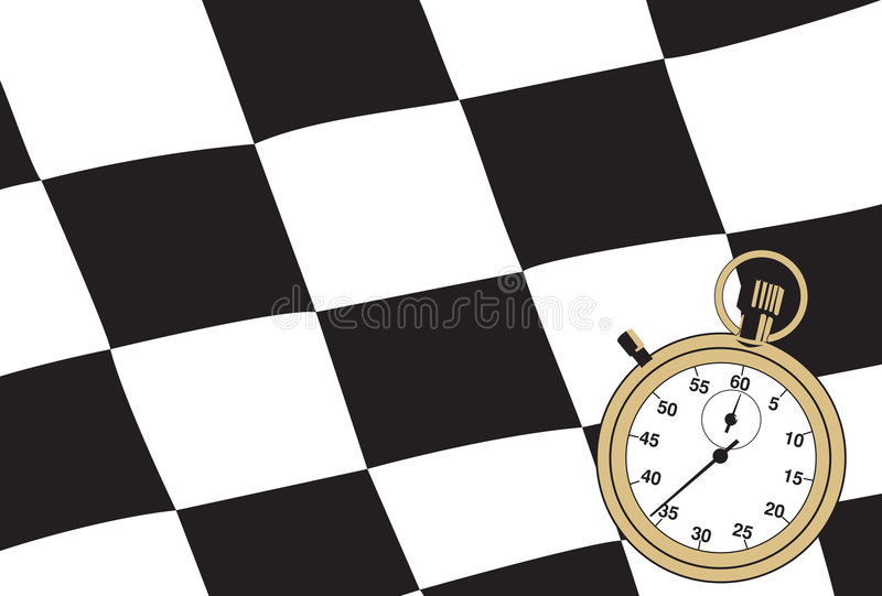 Download Checkered Flag With A Stopwatch Stock Vector - Illustration: 5592849