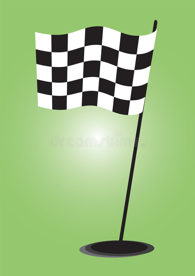 Download Checkered flag - vector stock vector. Image of loss, backgrounds - 6317805