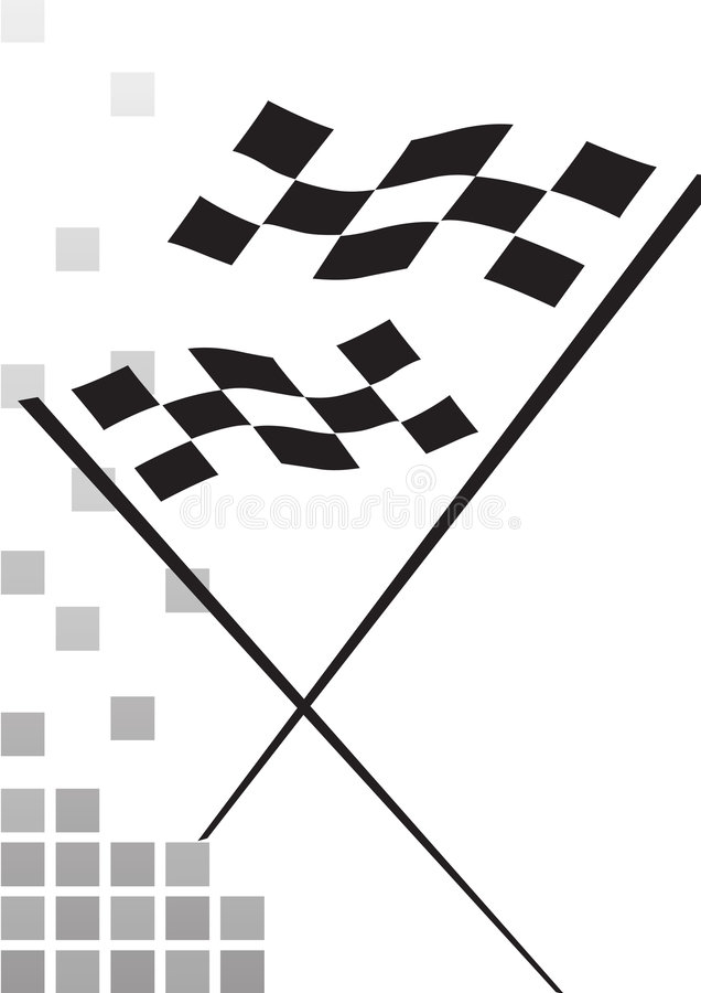 Checkered Flag - Vector Stock Image