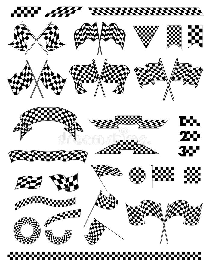 Checkered flag vector stock illustration