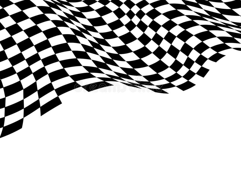 Checkered Flag Wave Monochrome Black White For Sport Race Championship And Business Success Finish Background Vector Stock Vector Illustration Of Pattern Chequered 126545302