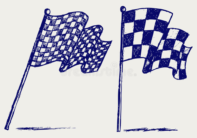 Download Checkered flags stock vector. Illustration of artistic - 26513665