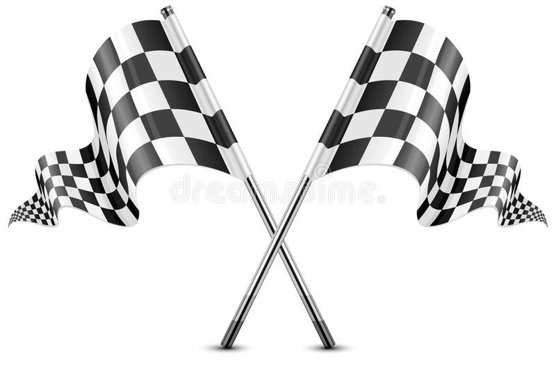 Download Checkered flags stock illustration. Image of drive, auto - 27736423