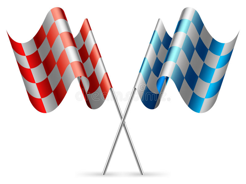 Download Checkered flags. stock vector. Illustration of speedway - 27926602