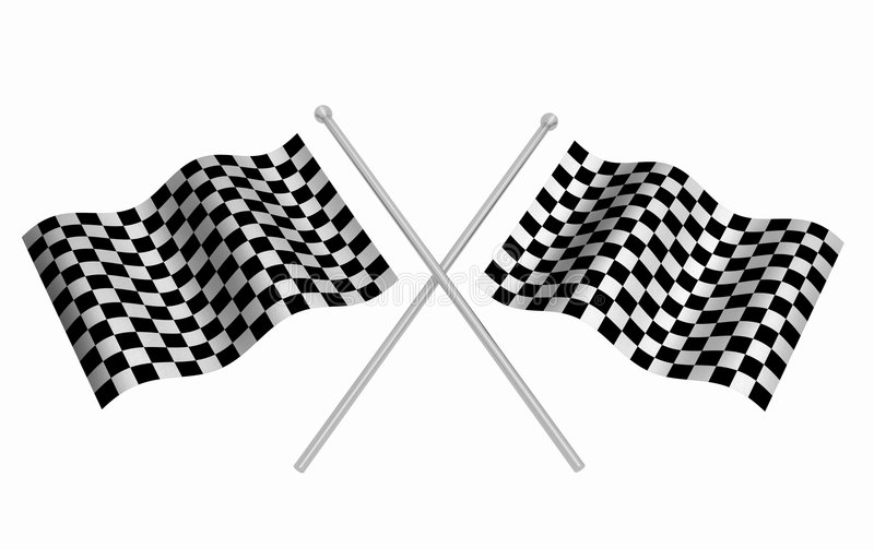 Download Checkered flags stock illustration. Illustration of render - 4672796
