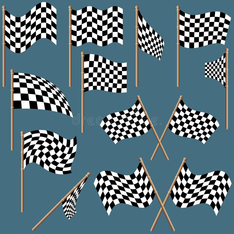 Download Checkered Flags stock vector. Image of pattern, winning - 9476838