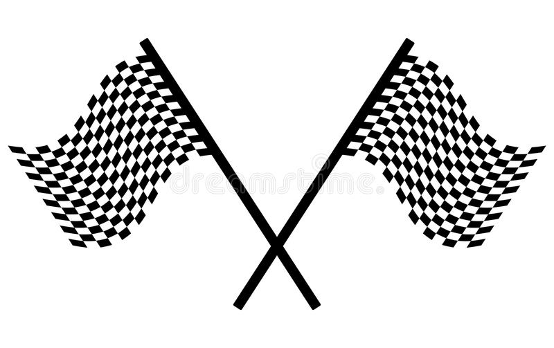 Checkered Flags Royalty Free Stock Photo