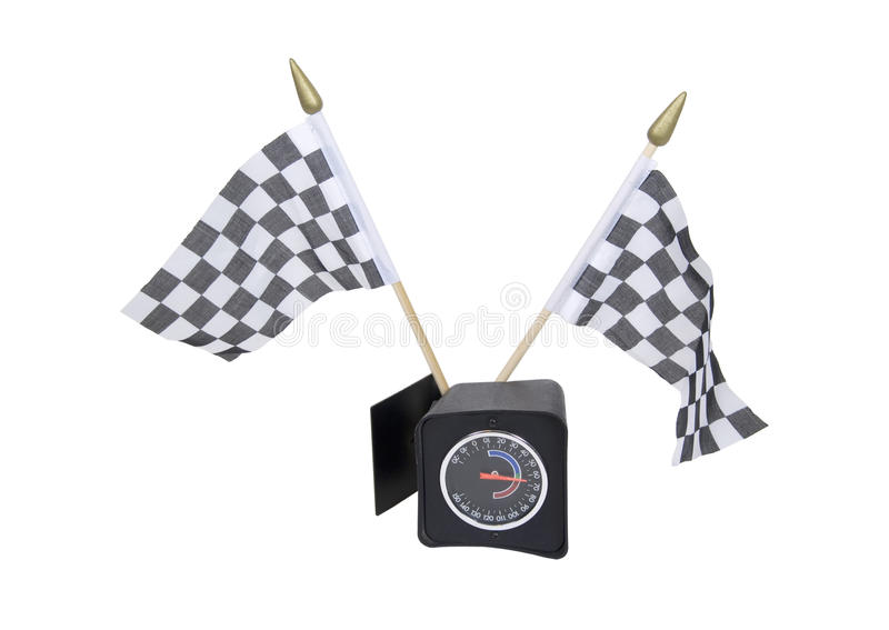 Download Checkered Flags And Guage Stock Photography - Image: 11644202
