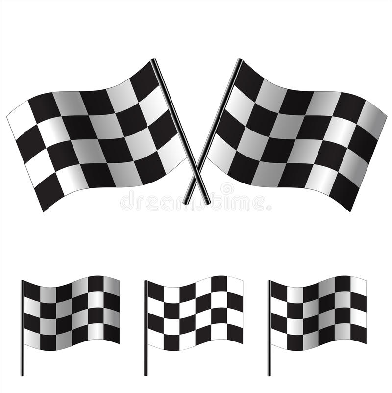 Checkered Flags (racing). Vector vector illustration