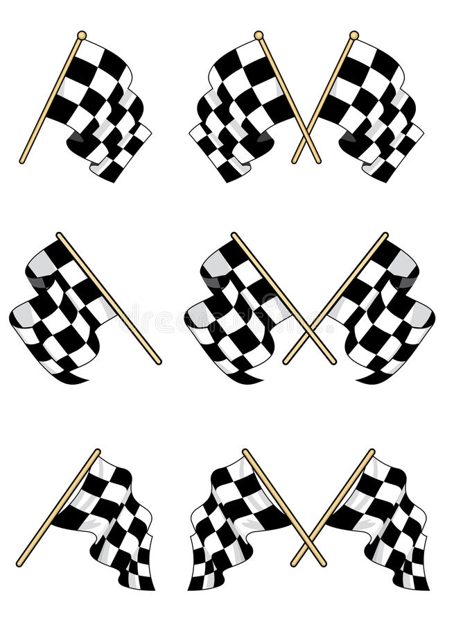 Download Checkered flags set stock vector. Illustration of isolated - 26419289