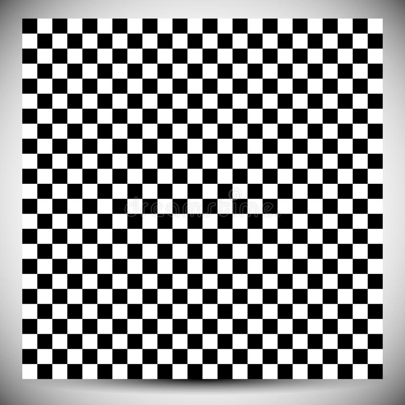 Checkered geometric pattern. Abstract uncolored pattern with squares / rectangles royalty free illustration
