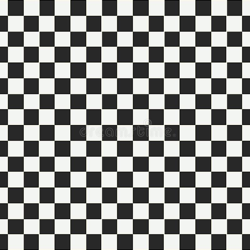 Checkered geometric seamless pattern with small jagged square shapes. Abstract monochrome black and white texture royalty free illustration