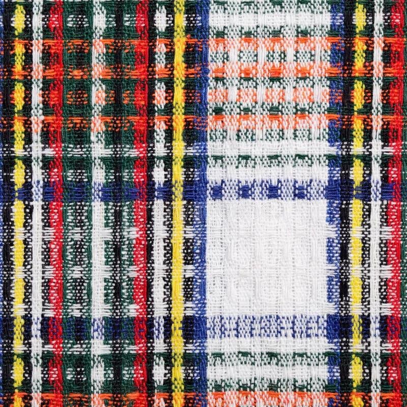 Checkered Gewebe lizenzfreie stockfotografie