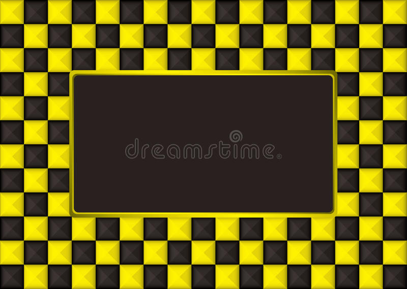 Download Checkered Gold Picture Frame Stock Vector - Illustration: 14749832