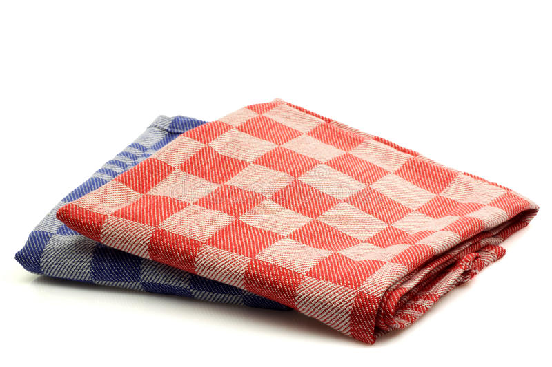 Download Checkered kitchen towels stock photo. Image of stack - 13512192