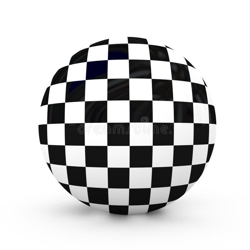 Checkered Kugel lizenzfreie abbildung