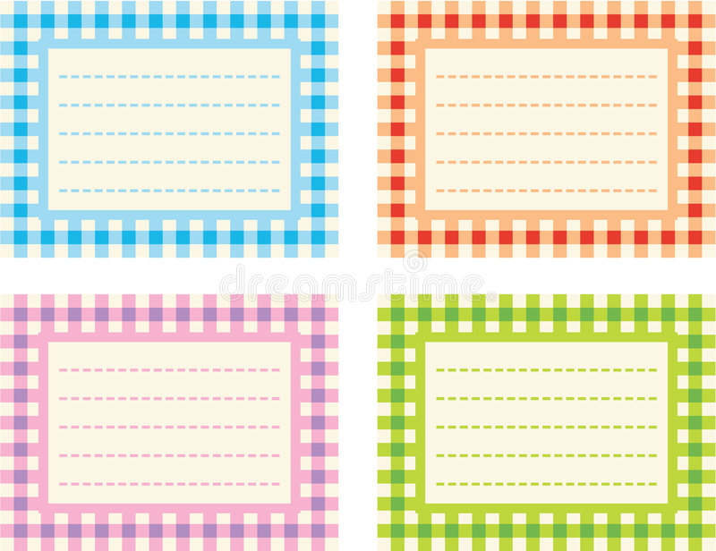 Download Checkered Labels stock vector. Image of tags, checkered - 6591868