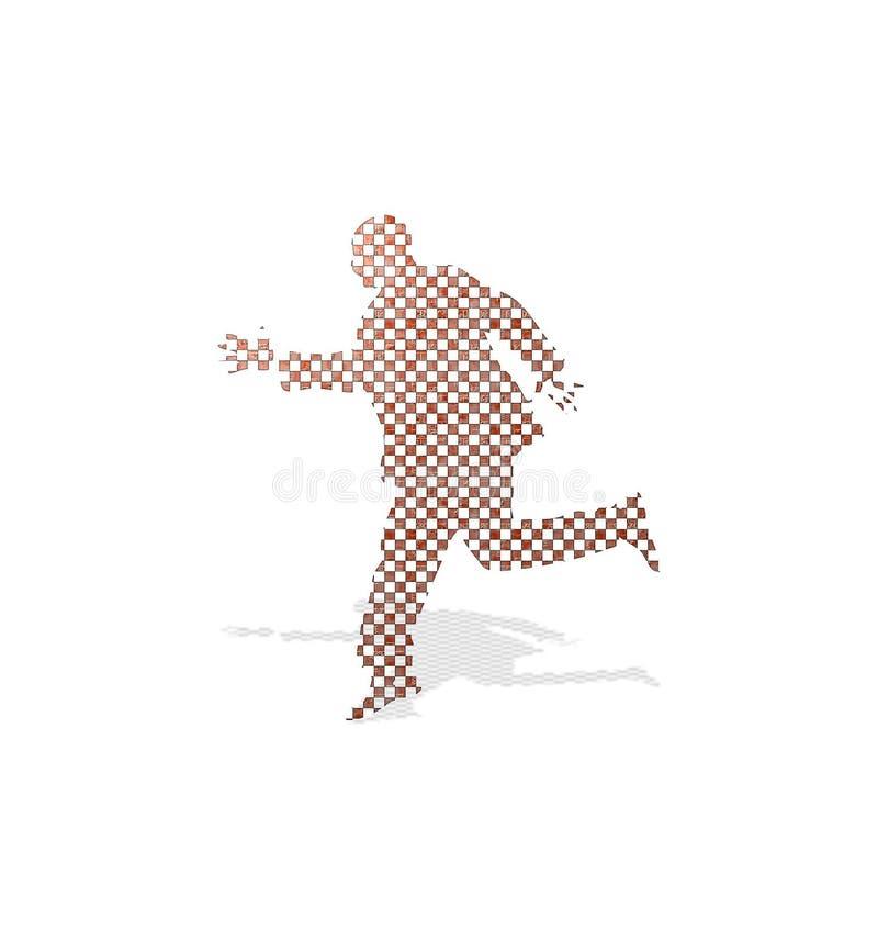 Checkered Mann Lizenzfreie Stockfotos