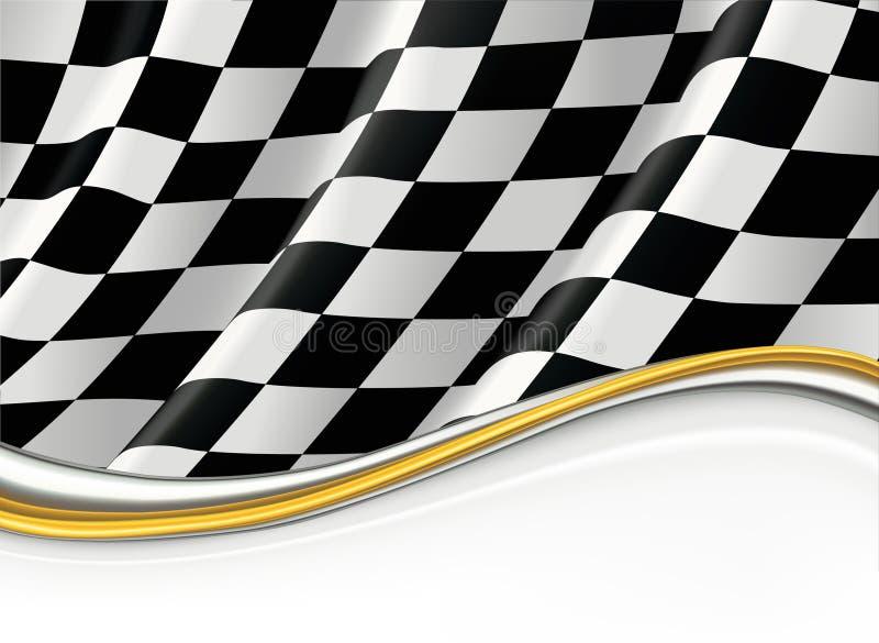 Checkered Markierungsfahne stock abbildung