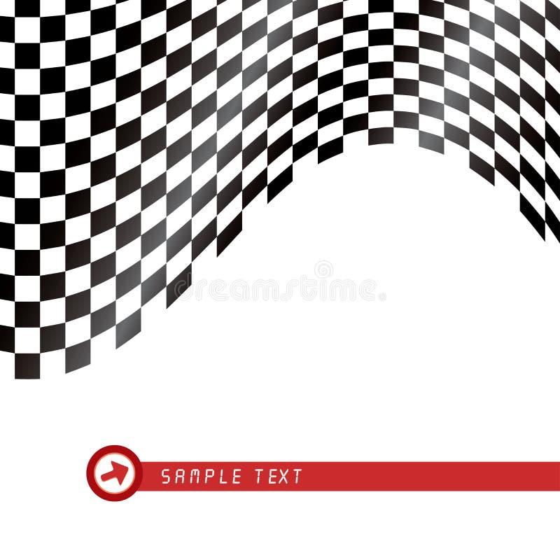 Checkered Markierungsfahne lizenzfreie abbildung