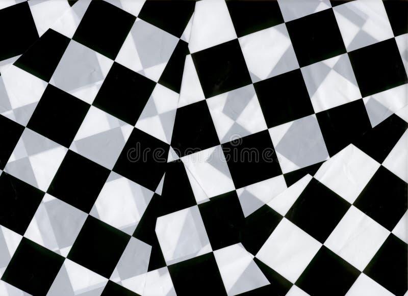 Checkered Markierungsfahnen stockfotografie