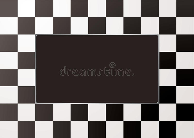 Download Checkered Mono Picture Frame Stock Vector - Image: 14641250