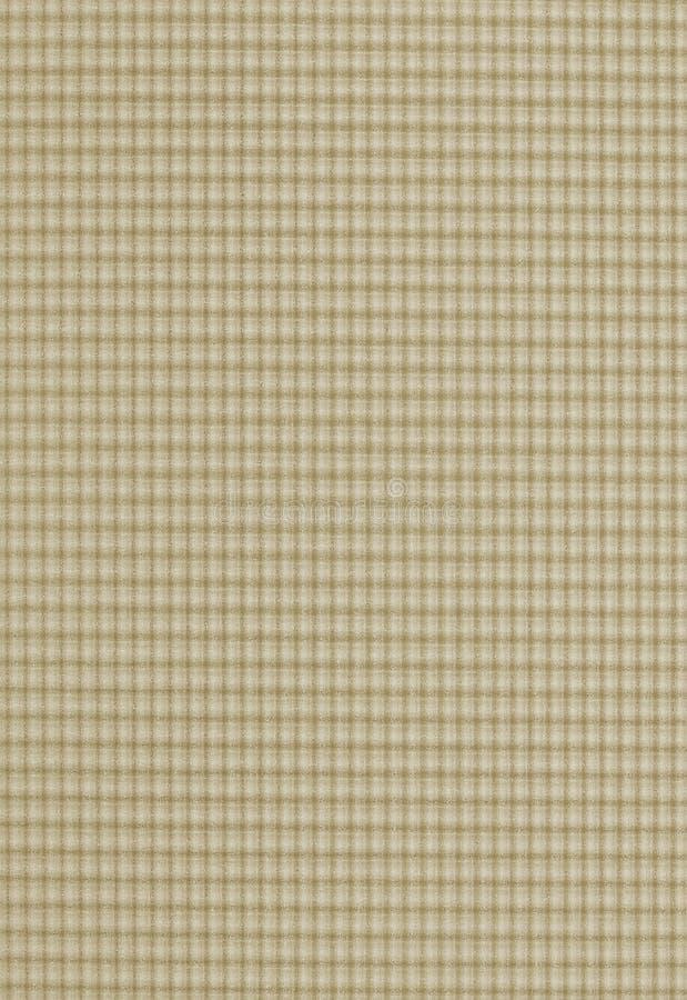 Checkered Muster in der beige Farbe stockbild