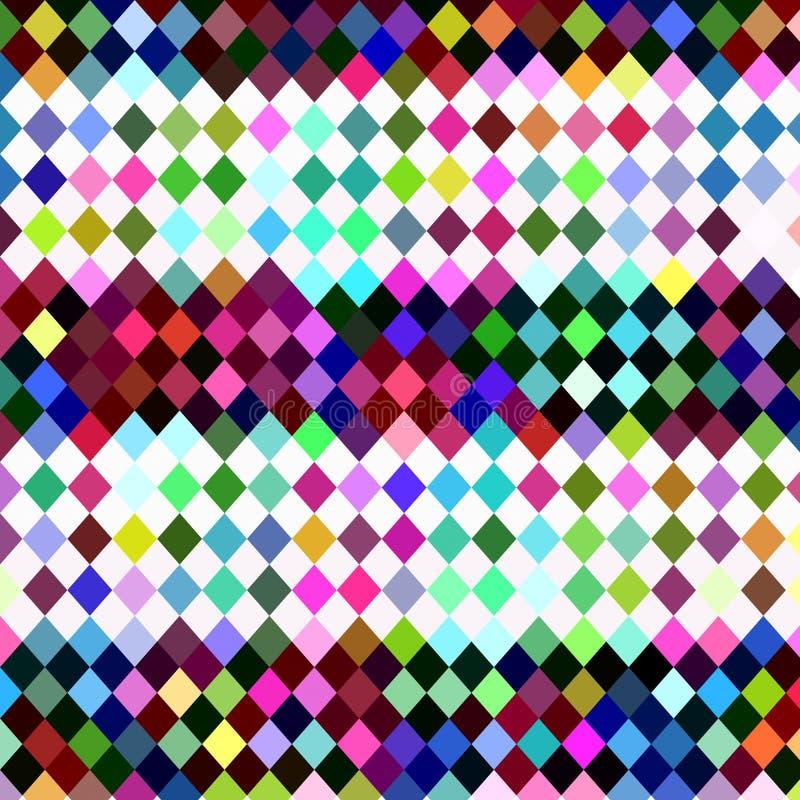 Checkered Muster des Harlekins lizenzfreie abbildung