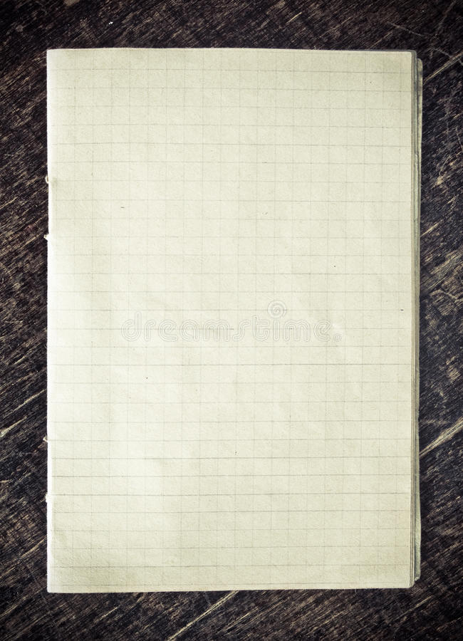 Checkered Paper Stock Photos