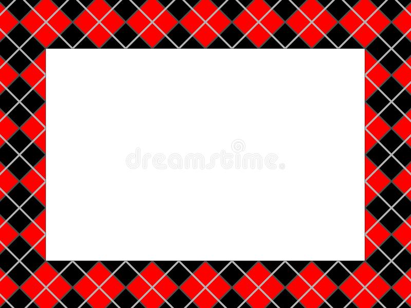 Checkered Pattern Frame Stock Image