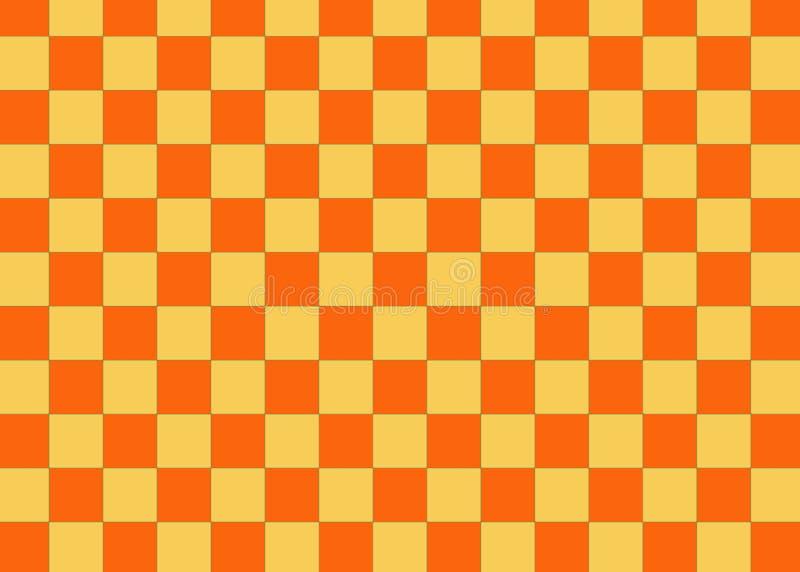 Checkered pattern tile background. Mosaic, wallpaper, backdrop, geometric, cube, art, orange, concept, modern, decoration, texture, floor, fabric, flanbel stock photo