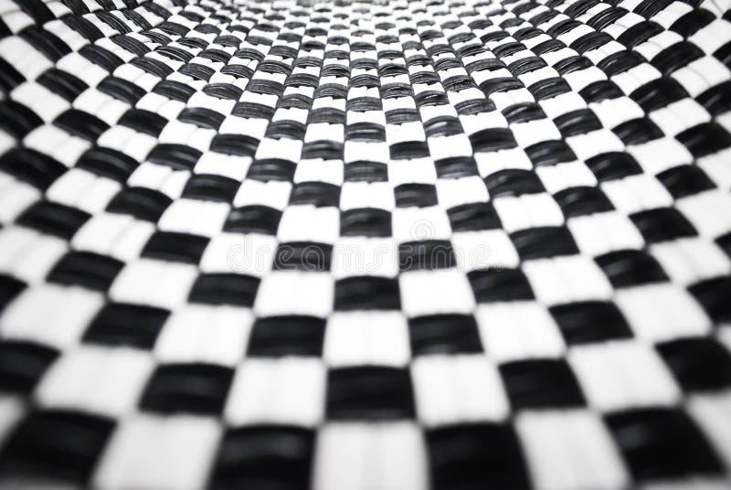 Checkered preto e branco imagem de stock