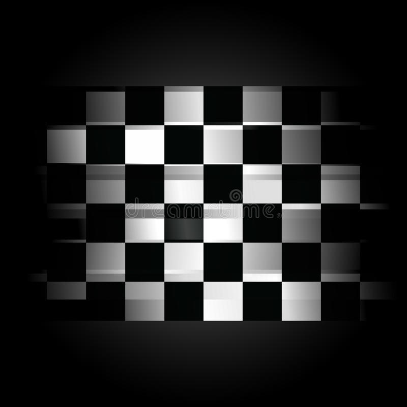 Download Checkered Racing Flag On Black Background Stock Photo - Image: 13446030