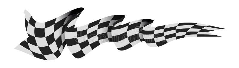 Checkered Rennenmarkierungsfahne vektor abbildung
