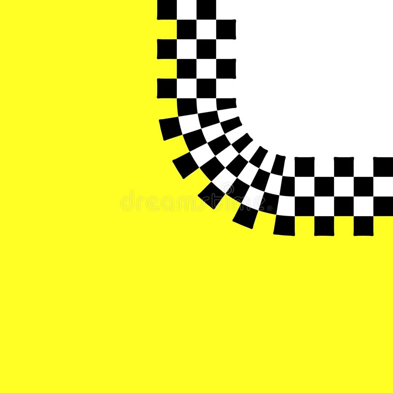 Checkered Retro Curve Royalty Free Stock Images