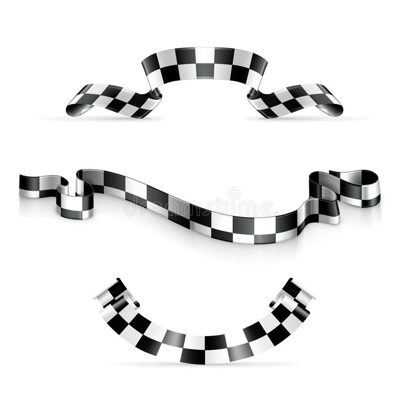 Download Checkered ribbons stock vector. Image of collection, design - 24523736