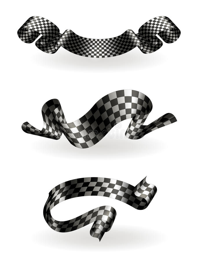 Download Checkered ribbons set stock vector. Image of insignia - 20443950