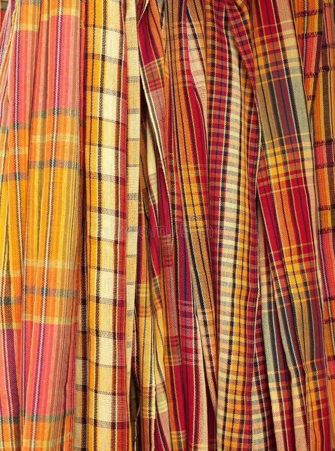 Checkered Schals Stockbild
