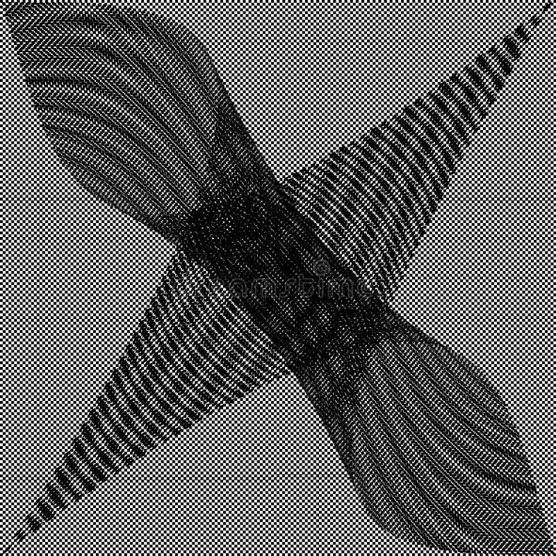 Checkered Schwarzweiss-Hintergrund stockfoto