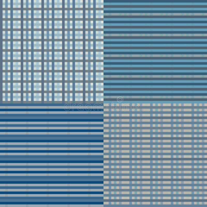 Checkered Seamless - Blue royalty free illustration