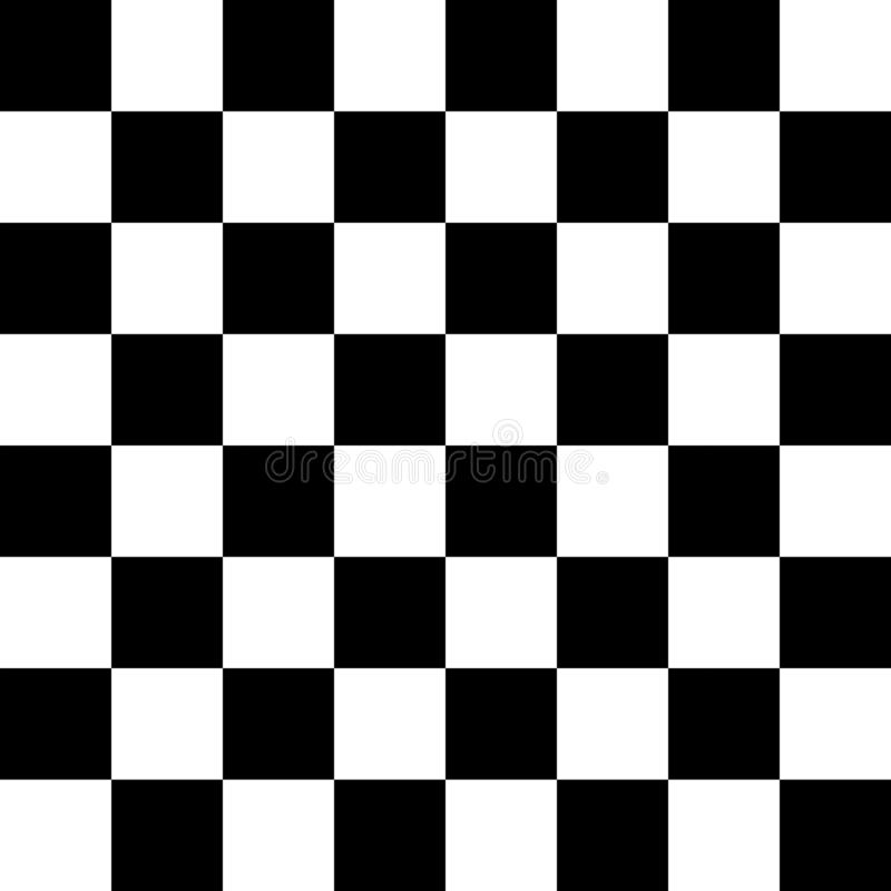 Checkered seamless pattern. Abstract wallpaper, black and white flooring illusion pattern texture background. 3d squares. Illustration vector illustration